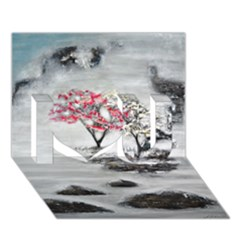 Mountains, Trees and Fog I Love You 3D Greeting Card (7x5)