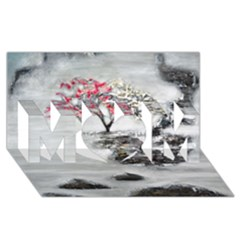 Mountains, Trees And Fog Mom 3d Greeting Card (8x4)
