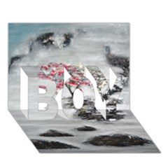 Mountains, Trees And Fog Boy 3d Greeting Card (7x5)