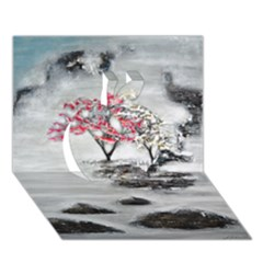 Mountains, Trees And Fog Apple 3d Greeting Card (7x5)