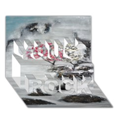 Mountains, Trees And Fog You Rock 3d Greeting Card (7x5)