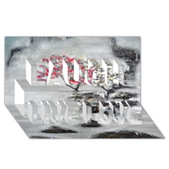 Mountains, Trees and Fog Laugh Live Love 3D Greeting Card (8x4)