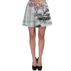 Mountains, Trees and Fog Skater Skirts