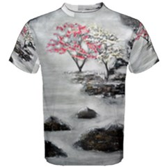 Mountains, Trees And Fog Men s Cotton Tees