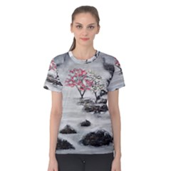 Mountains, Trees And Fog Women s Cotton Tees