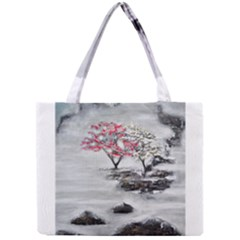 Mountains, Trees And Fog Tiny Tote Bags