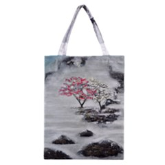 Mountains, Trees and Fog Classic Tote Bags