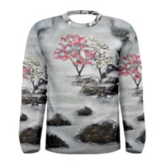 Mountains, Trees and Fog Men s Long Sleeve T-shirts