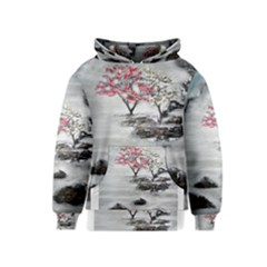 Mountains, Trees and Fog Kid s Pullover Hoodies