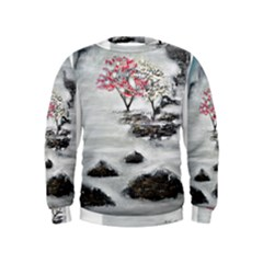 Mountains, Trees and Fog Boys  Sweatshirts