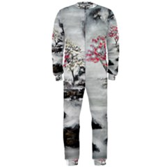 Mountains, Trees And Fog Onepiece Jumpsuit (men)