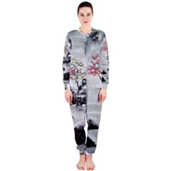 Mountains, Trees and Fog OnePiece Jumpsuit (Ladies)