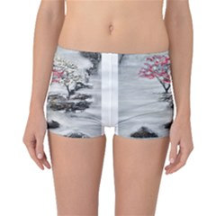 Mountains, Trees and Fog Boyleg Bikini Bottoms