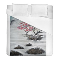 Mountains, Trees And Fog Duvet Cover Single Side (twin Size)