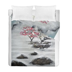 Mountains, Trees And Fog Duvet Cover (twin Size)