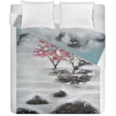 Mountains, Trees And Fog Duvet Cover (double Size)