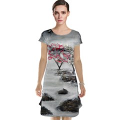 Mountains, Trees And Fog Cap Sleeve Nightdresses