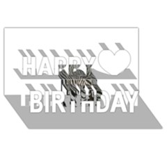 Unique Zebra Design Happy Birthday 3D Greeting Card (8x4)