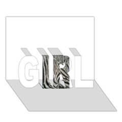 Unique Zebra Design Girl 3d Greeting Card (7x5)