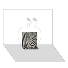Unique Zebra Design Apple 3D Greeting Card (7x5)