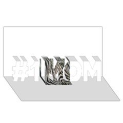 Unique Zebra Design #1 MOM 3D Greeting Cards (8x4)