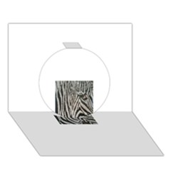 Unique Zebra Design Circle 3D Greeting Card (7x5)