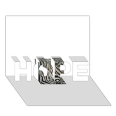 Unique Zebra Design HOPE 3D Greeting Card (7x5)