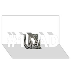 Unique Zebra Design #1 DAD 3D Greeting Card (8x4)