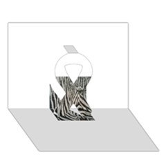 Unique Zebra Design Ribbon 3d Greeting Card (7x5)