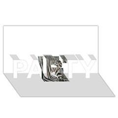 Unique Zebra Design Party 3d Greeting Card (8x4)