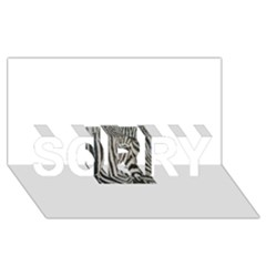 Unique Zebra Design Sorry 3d Greeting Card (8x4)