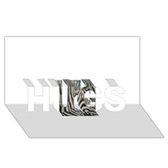 Unique Zebra Design HUGS 3D Greeting Card (8x4)