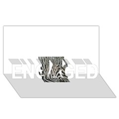 Unique Zebra Design ENGAGED 3D Greeting Card (8x4)