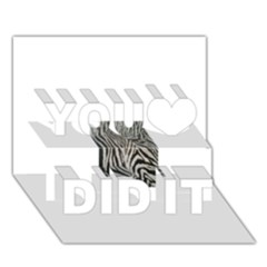 Unique Zebra Design You Did It 3d Greeting Card (7x5)