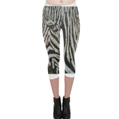 Unique Zebra Design Capri Leggings
