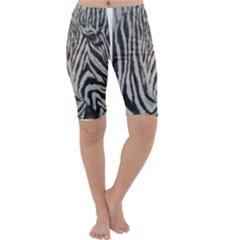 Unique Zebra Design Cropped Leggings