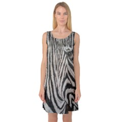 Unique Zebra Design Sleeveless Satin Nightdresses