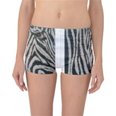 Unique Zebra Design Reversible Boyleg Bikini Bottoms