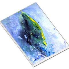 Bright Yellow And Blue Abstract Large Memo Pads