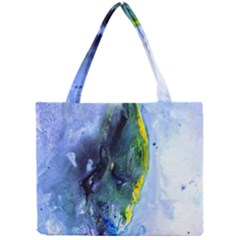 Bright Yellow and Blue Abstract Tiny Tote Bags
