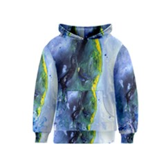 Bright Yellow and Blue Abstract Kid s Pullover Hoodies