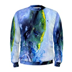 Bright Yellow and Blue Abstract Men s Sweatshirts
