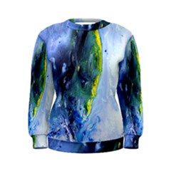 Bright Yellow And Blue Abstract Women s Sweatshirts