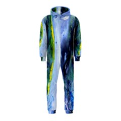 Bright Yellow and Blue Abstract Hooded Jumpsuit (Kids)