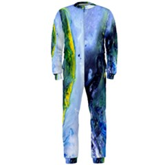 Bright Yellow And Blue Abstract Onepiece Jumpsuit (men)