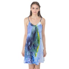 Bright Yellow And Blue Abstract Camis Nightgown
