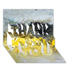 Bright Yellow Abstract Thank You 3d Greeting Card (7x5)