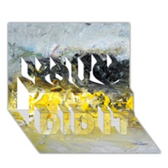 Bright Yellow Abstract You Did It 3D Greeting Card (7x5)