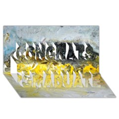 Bright Yellow Abstract Congrats Graduate 3d Greeting Card (8x4)