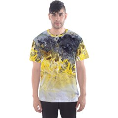 Bright Yellow Abstract Men s Sport Mesh Tees